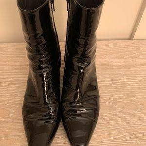 Stuart Weitzman Patent Leather Booties